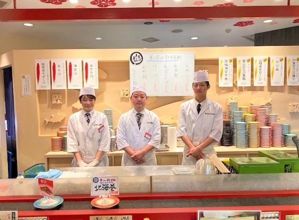 【愛知・名古屋】TVでも話題のグルメ回転寿司、金沢まいもん寿司で「安定」を求める職人を募集!